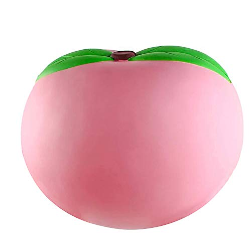 WATINC 10inch Jumbo Squeeze Toy, Large Peach Squeeze Toy, Birthday Gift for Kids, Giant Slow Rising Simulation Cute Fruit Squeeze Toy for Collection, Decorative Props, Stress Relief, Bonus Mini Toy