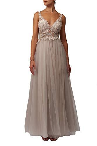 Mascara Sand Mc129227 Weiche Spitze & Netz Tüll Prom Kleid 36