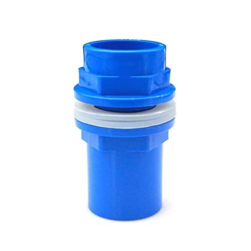 1 Unids 20-50 Mm Conectores De Tubería De PVC Espesar Conector De Drenaje Del Tubo Del Tanque De Peces, Drenaje De Jardín Adaptador De Tubería UPVC Ajustes ( Color : Blue , Size : Inner Dia 32mm )