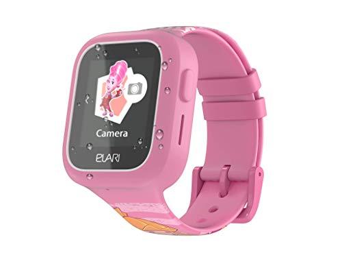 Elari 2G Kinderuhr mit GPS und Anruf Funktion GPS-Tracker Kind Jungen Mädchen Wasserdicht, Bidirektionale Anrufe, SOS, Anti-Verlorenen Alarm, Kamera, austauschbarer Riemen Fixitime Lite (Rosa)