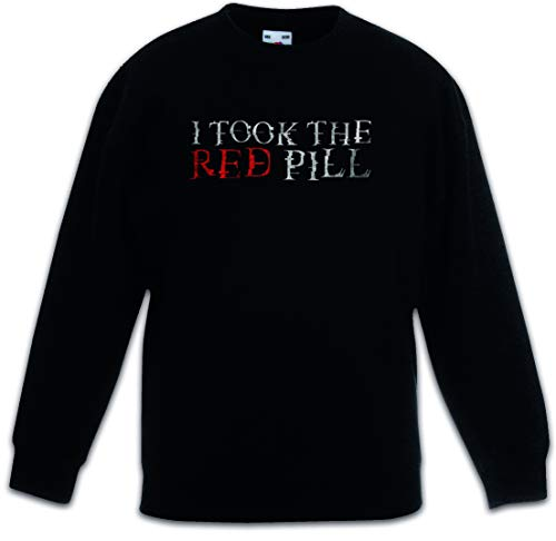 Urban Backwoods I Took The Red Pill Kinderen Jongens Meisjes Sweatshirt Pullover Trui Schwarz