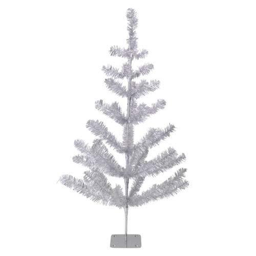 1 Pcs 3' Silver Tinsel Pine Artificial Christmas Twig Tree Unlit XMAS20 BA117