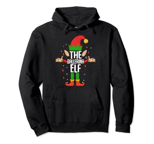 El elfo de la bailarina - Disfraz de Navidad para ballet Sudadera con Capucha