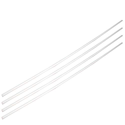Othmro ABS Plastic Round Bar Rod,4mm/0.16 inch Dia 50cm/19.69 inch Length,White for Architectural Model Making DIY 4pcs