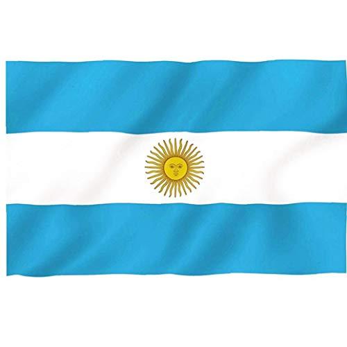 Bandera De Argentina Bandera De Reemplazo Argentina Polo Dacrón Bandera Bordada Práctica Al Aire Libre para Eventos Festival Festival De La Bandera De La Copa del Mundo