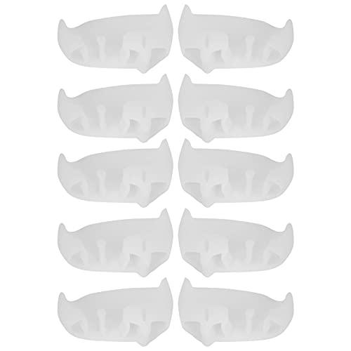 Separador De Pies De 5 Pares De Corrección De Dedos, Plancha Transpirable Para Pedicura, Separador De Dedos En Valgo, Herramienta Para El Cuidado De Los Dedos Del Pie(blanco)