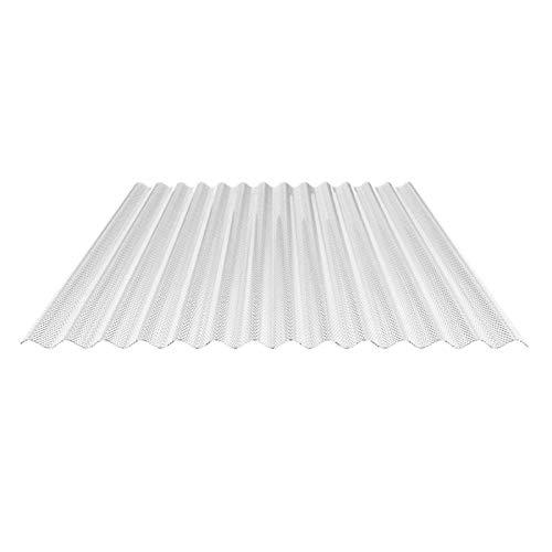Lichtplatte | Wellplatte | Lichtwellplatte | Profil 76/18 | Material PVC | Breite 1030 mm | Stärke 2,5 mm | Farbe Glasklar | Wabenstruktur