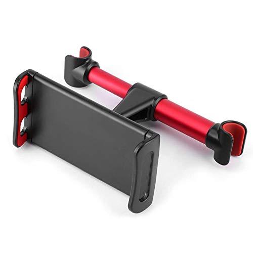 Reposacabezas Soporte para teléfono móvil Soporte giratorio para teléfono Soporte de navegación para automóvil para tableta de teléfono móvil de 4.7-10.5 pulgadas para accesorio de automóvil(red)