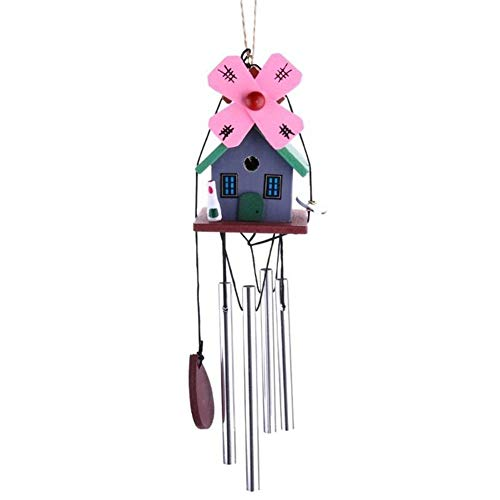 ZANGAO Extérieur Jardin Jardin Suspendu Ornements en Alliage Carillons Wind Chimes Bricolage Rustic 8 Tubes de Bell Moulin à Vent Wind Chimes Décoration (Color : 03)