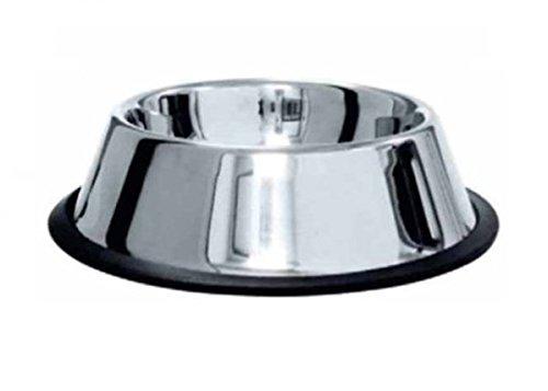 Ciotola antiscivolo in acciaio per cane Cocker - In acciaio, con anello antiscivolo e bordi extra alti