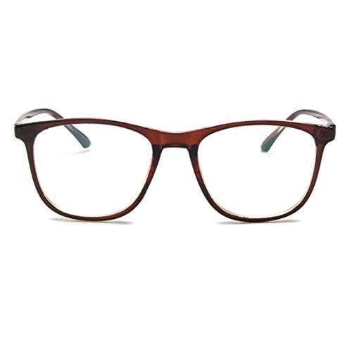 DBSUFV Gafas Sencillas, Gafas de Moda para Hombres y Mujeres, Material de Resina, Lentes UV400 polarizadas con eliminación del deslumbramiento del 99%, Marco de Metal Completo Espejo Plano