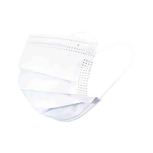 50 Stück Weiß Einmal-Mundschutz, Staubs-chutz Atmungsaktive Mundbedeckung, Erwachsene, Bandana Face-Mouth Cover Sommerschal (50, Weiß)