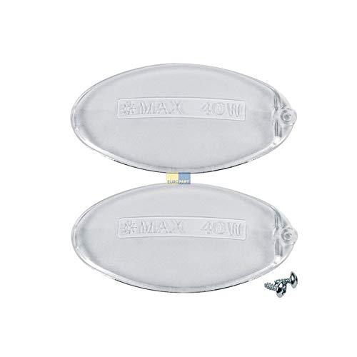 LUTH Premium Profi Parts Universal Lampenabdeckung für Electrolux 5024879600/0 oval für Dunstabzugshaube 2Stk