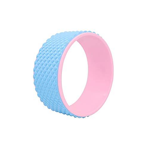 TPE, para yoga, circular, pilates, circular, bolsa para rueda auxiliar, color azul