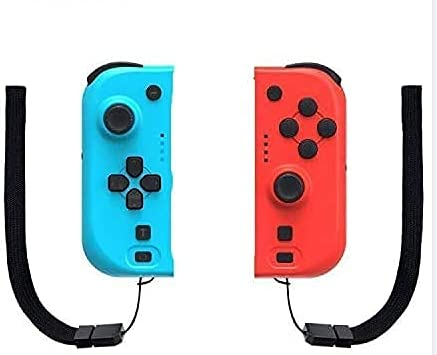 VR SHINECON Wireless Controller für Switch, 2er-Set Links Rechts Kabelloser Bluetooth Gamepad Joystick Controller Rot (R) & Blau