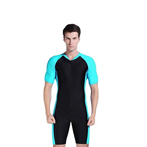 LOPILY Herren Wetsuit Neoprenanzug Schwimmen Surfen Tauchen Sport Badeanzug Surfbekleidung Einteiler Bademode UV Schutz Sonnencreme Wassersport Anzug Schnorcheln(Himmelblau,2XL)