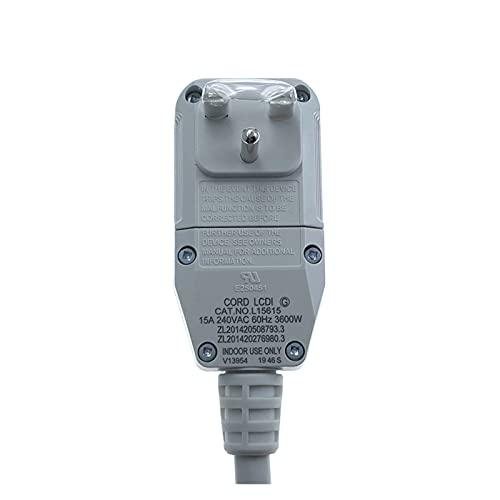 PUGONGYING Popular CAT.NO.L15515/15615/15620 UL Certified LCDI Power Cord Plug fit for A/C Air Conditioner For LG, Frigidaire durable (Color : 15A 230VAC 3600W)
