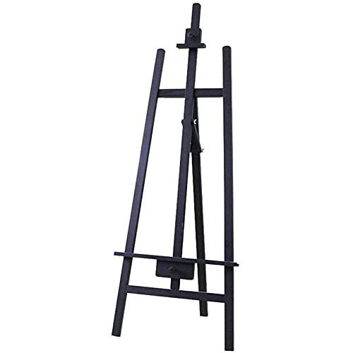 JUULLN Caballene Plegable de Madera Maciza, 1,65 m de Pino Soporte de Soporte Sketching Hapleel, Soporte de exhibición de Publicidad, Soporte de exhibición Multifuncional (Color : Black)