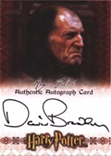 World of Harry Potter in 3D David Bradley Autograph Card