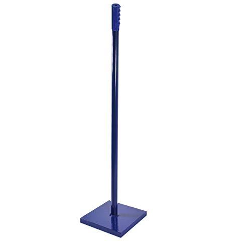 HELO Erdstampfer Betonstampfer aus Stahl 9,5 kg mit Einhand-Griff, Handstampfer zum Verdichten mit 20x20 cm großer und 25 mm starker Grundplatte, Höhe: 116 cm, Gewicht: 9,5 kg, Farbe: Blau