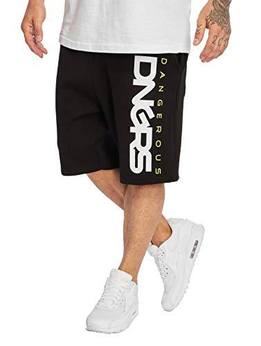 EGOMAXX DNGRS Herren Shorts Baggy Sweat Pants 3/4 Bermuda Sport Hose, Farben:Grün, Größe Shorts:XL