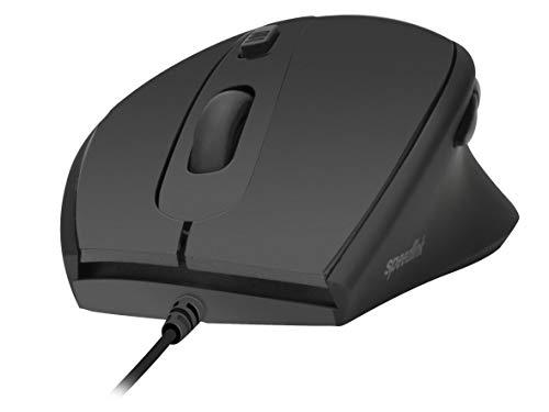 Speedlink AXON Silent & Antibacterial Mouse - Leise und antibakterielle Maus mit USB-Anschluss - schwarz