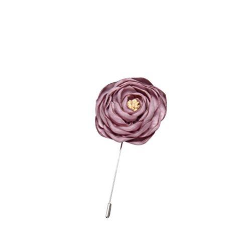 TOYANDONA Flor Broche de alfileres Handcraft Rose Broche Alfombra Traje Vintage Abrigo...