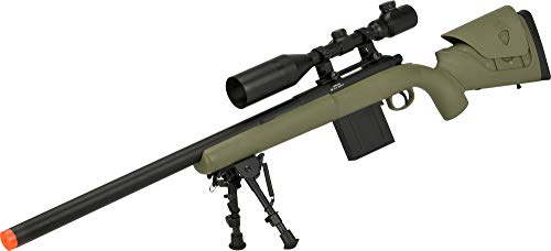 Evike APS M40A3 Realistic Action Airsoft Sniper Rifle - 550 FPS Version (Color: Dark Earth Rifle (No Scope Bipod))