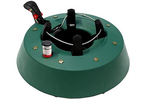 Standard Christbaumständer mit Fusshebeltechnik und Sicherung in Vollkunststoff für Baumhöhe bis 2 m, 1,3 Liter Wassertank, Grün