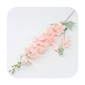 Funlife-Shop 87 cm Violet Delphinium DIY Orchid Bouquet Silk Hyacinth Continental Artificial Flowers Wedding Home Party Christmas Decoration-Pink-