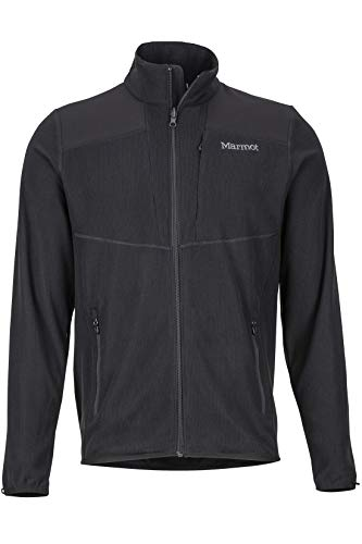 Marmot Men, Reactor Jacket Fleecejacke Outdoorjacke atmungsaktiv, Black, L