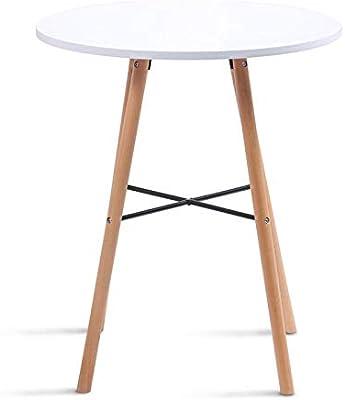 IDMarket - Table à Manger Ronde scandinave SARA Blanche