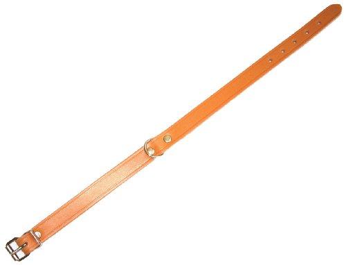 Heim 6000660 Lederhalsband, 22 mm breit, 55 cm lang, natur