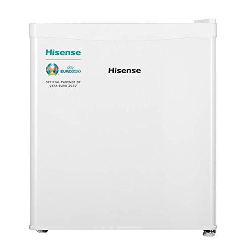 Hisense RR55D4AW1 - Mini Bar, Frigorífico Pequeño, 42 L de Capacidad Neta, 51 Cm Alto, Table Top, Una Puerta Reversible, Clase A+, Bajo Encimera, Color Blanco, Silencioso