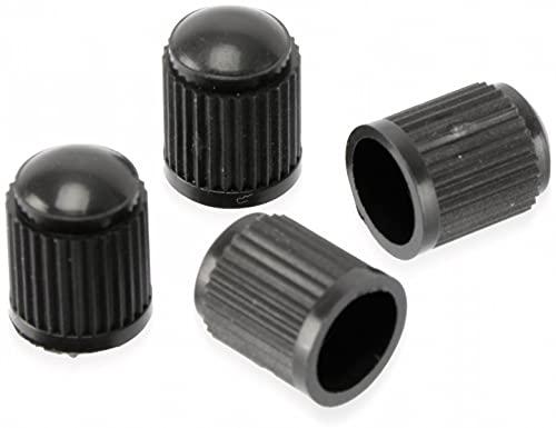 Dunlop Automotive Car schwarz Dunlop-Ventilkappen 4 Stück, One Size
