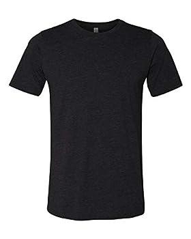 Next Level Mens Poly/Cotton Short-Sleeve Crew Tee  6200  Black XL