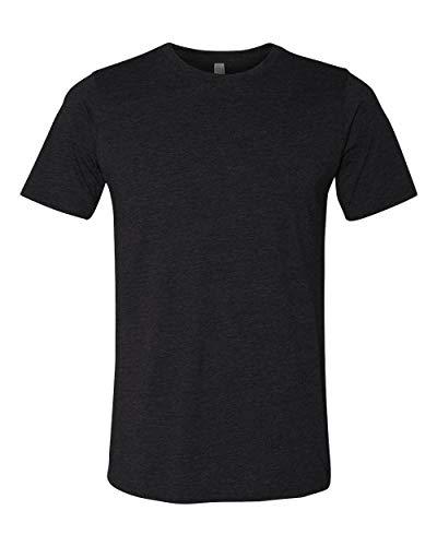 Camiseta masculina de gola redonda Next Level 6200, Preto, Medium