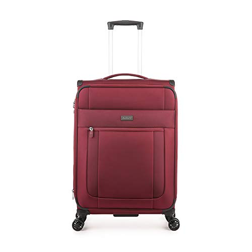 Antler Translite II, Durable & Expandable Lightweight Soft Shell Suitcase - Colour: Burgundy, Size: Medium