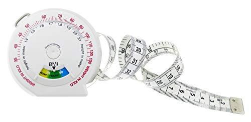 hoechstmass Balzer Leo 2m BMI Körpermaßband, ABS, Weiß, 7,5 cm