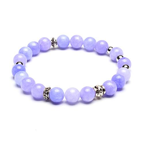 West Coast Jewelry | ELYA Lavender Jade Natural Gemstone Beaded Stretch Bracelet
