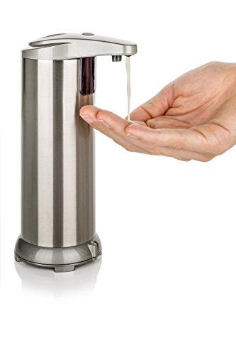 Best at Home | Luxus Seifenspender | Infrarot-Sensor | no-touch | automatisch | gebürsteter Edelstahl | berührungslos/elektrisch | Nr. 1 aus den USA | Automatik-Dosierer | Bad & Küche | nachfüllbar