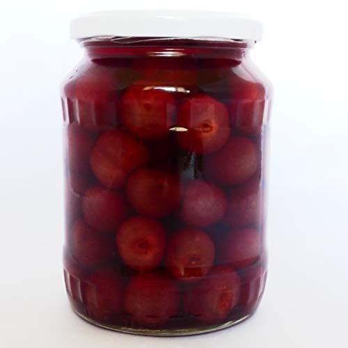 Ungarische reife Süßkirschen im Glas 720ml aus Kalocsa süße Kirschen Kirschkompott cseresznye befött, handarbeit