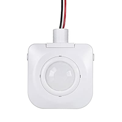 Ceiling Occupancy Motion Sensor - Passive Infrared Technology - High Bay Fixture Mount 360 Degree - By Dependable Direct, Hard-Wired, 120-277VAC, Commercial/Industrial Grade, White