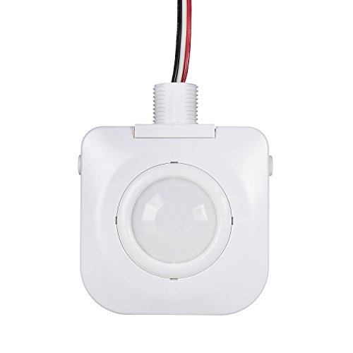1 Pack Ceiling Occupancy Motion Sensor - Passive Infrared Technology - High Bay Fixture Mount 360 Degree, Hard-Wired, 120-277VAC, Commercial/Industrial Grade, White
