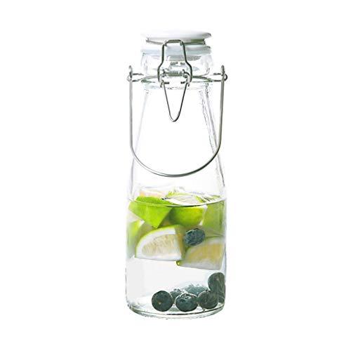 Bouilloire froide, bouteille d'eau froide, verre de couverture, scellé, auto-élévateur, bouteille de boisson créative transparente, bouteille d'eau en verre sans plomb, stabilité chimique, gourde Boby