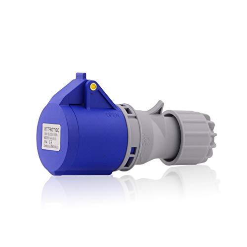CEE presa industriale IP44 in blu grigio 16 A, 3 poli, 230 V, CE, SB, RoHS, Reach