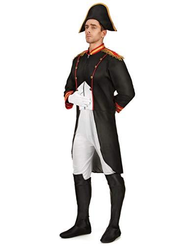 Generique Napoleon-Kostüm Historisches Herrenkostüm schwarz-Weiss-rot L