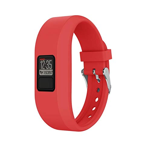 Correas De Banda De Reloj para Garmin VIVOFIT 3 Watch Band Sport Sport Silicone Reemplazar La Pulsera De La Pulsera Inteligente Accesorios para VIVOFIT 3 (Color : Red, Size : For Garmin vivofit 3)