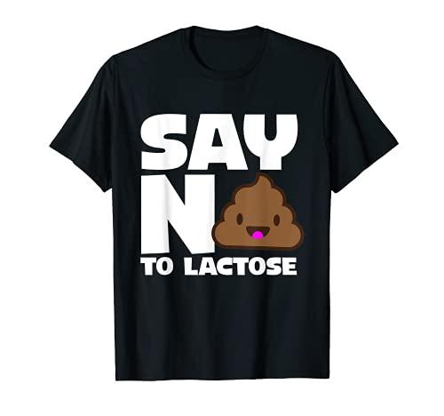 Di No A La Lactosa - Divertido Sin Lactosa Camiseta