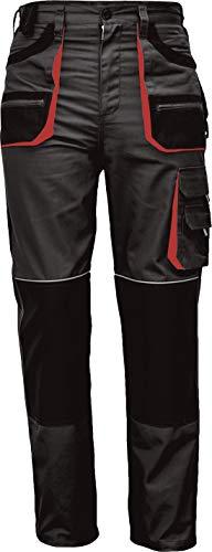 Stenso des-Emerton® - Herren Arbeitshose Bundhose/Cargohose - Schwarz/Rot EU60